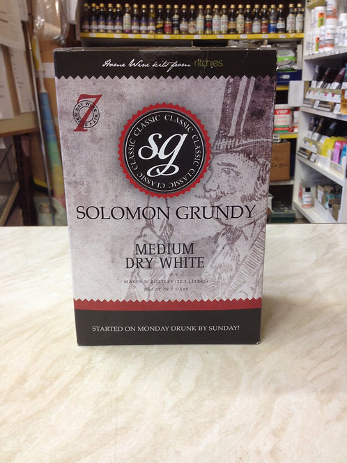 Solomon Grundy Medium Dry White 30 bottle kit