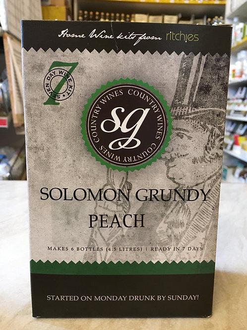 Solomon Grundy Peach 6 bottle wine kit