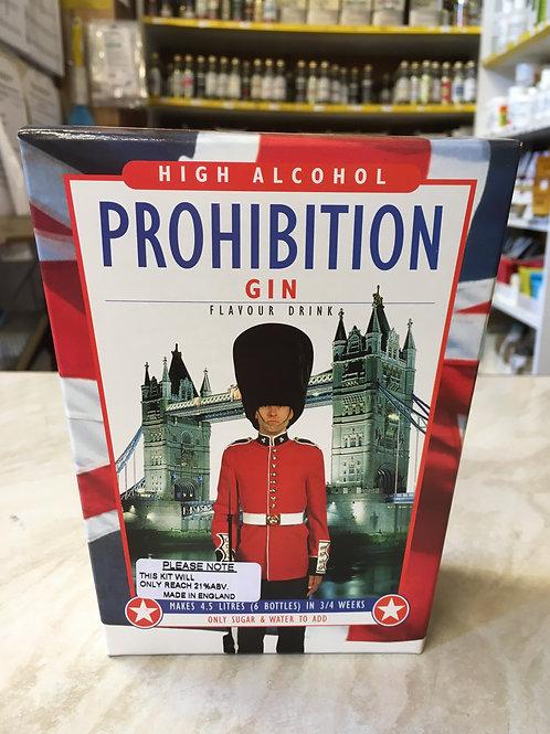Prohibition Gin High Alcohol Spirit Kit