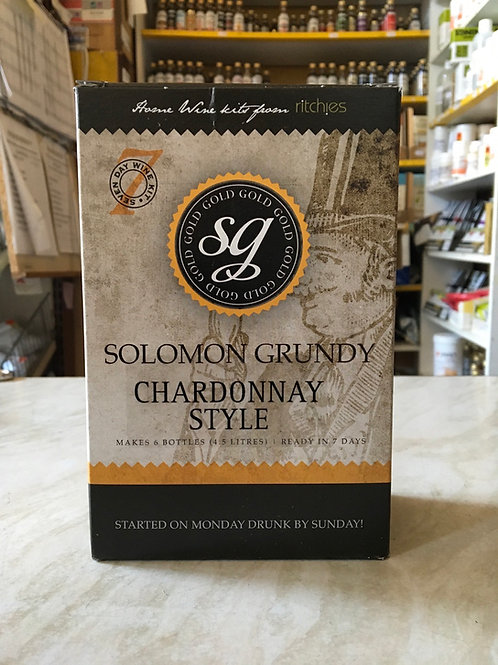 Solomon Grundy Gold Chardonnay 6 bottle kit