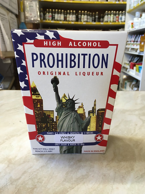 Prohibition Whiskey High Alcohol Spirit Kit