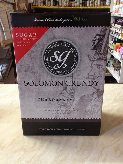 Solomon Grundy Platinum Chardonnay 30 bottle kit