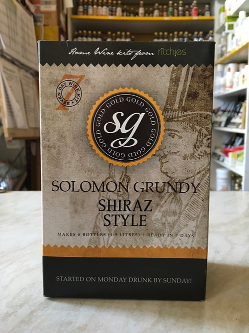 Solomon Grundy Gold Shiraz 6 bottle kit