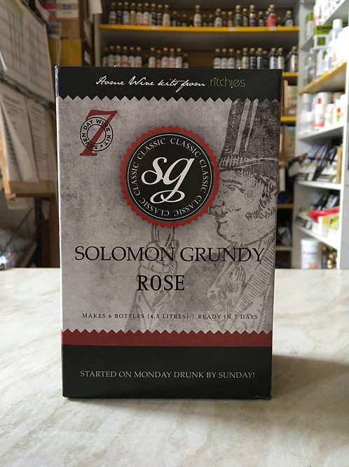 Solomon Grundy Rose 6 bottle kit