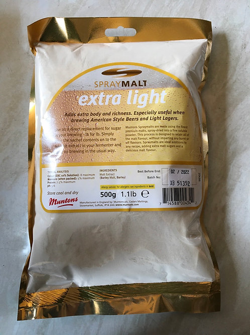 Muntons Extra Light Spray Malt 500g