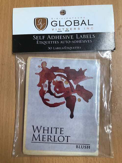 White Merlot Wine Labels