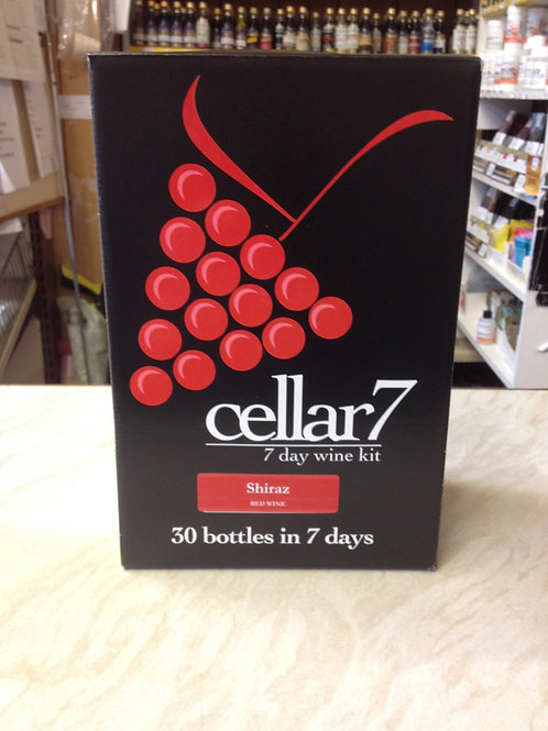 Cellar 7 Shiraz 30 bottle kit