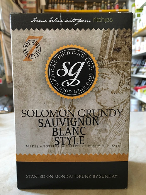 Solomon Grundy Gold Sauvignon Blanc 6 bottle kit