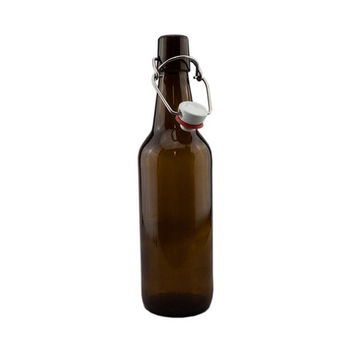 Amber Swing Top Beer Bottles (12)- Complete