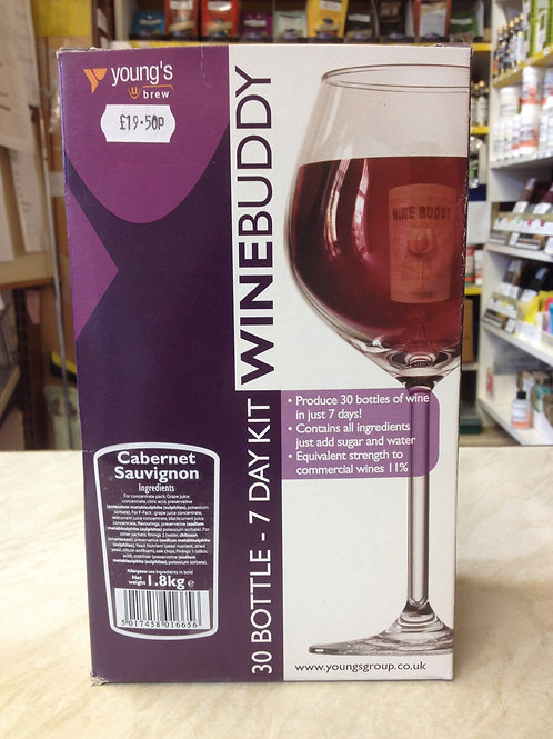 WineBuddy Cabernet Sauvignon 30 bottle kit