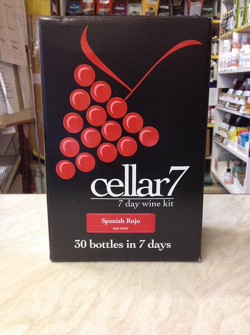 Cellar 7 Spanish Rojo 30 bottle kit