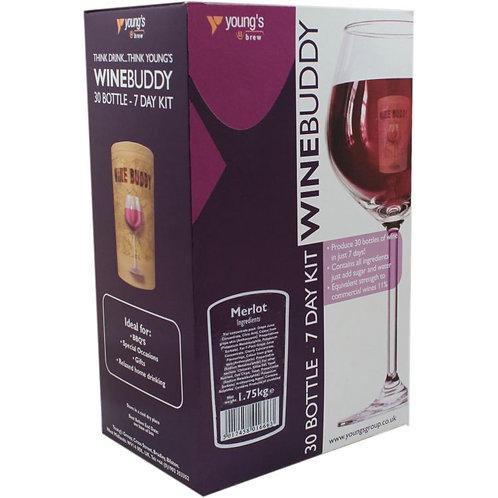 WineBuddy Merlot 30 bottle kit