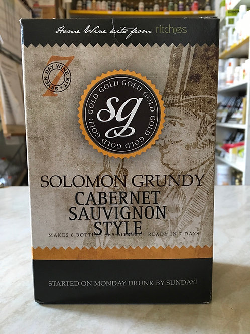 Solomon Grundy Gold Cabernet Sauvignon 6 bottle kit