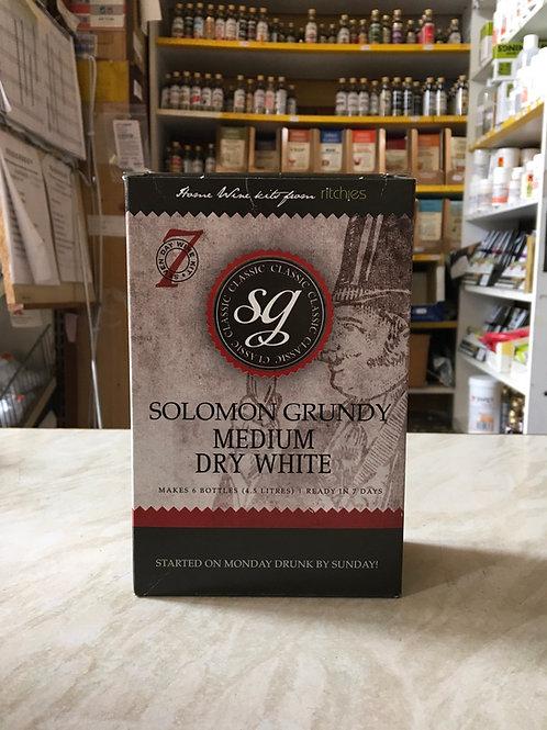 Solomon Grundy Medium Dry White 6 bottle kit