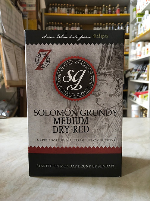 Solomon Grundy Medium Dry Red 6 bottle kit