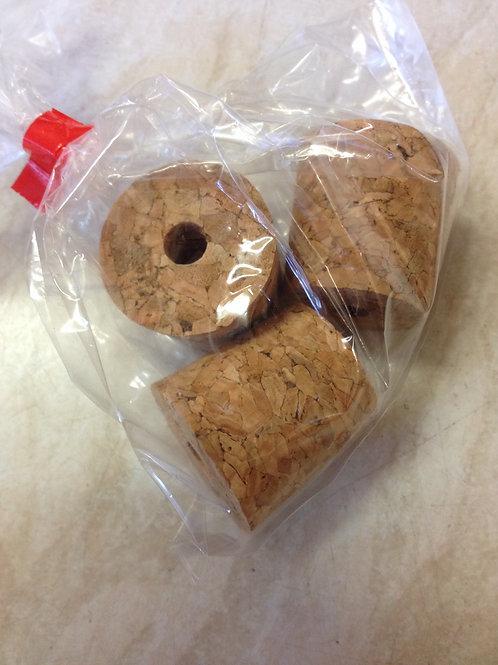 Cork Bung 1gal Size Bored (3's)