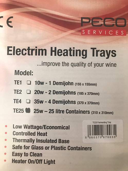 25 ltr Heater Tray - TE25