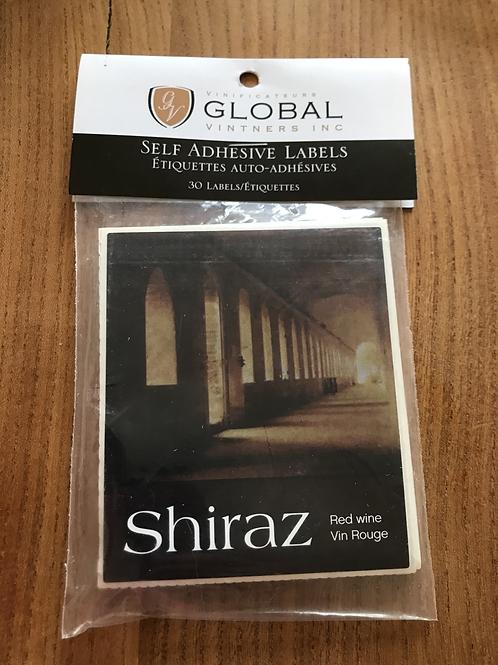 Shiraz 30 labels