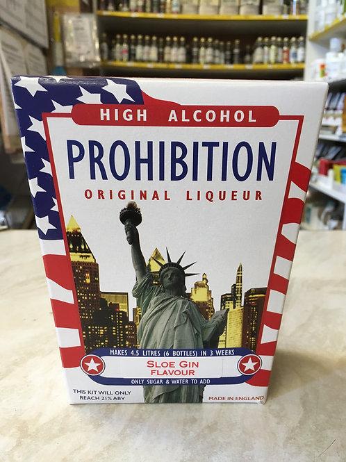 Prohibition Sloe Gin High Alcohol Liqueur Kit