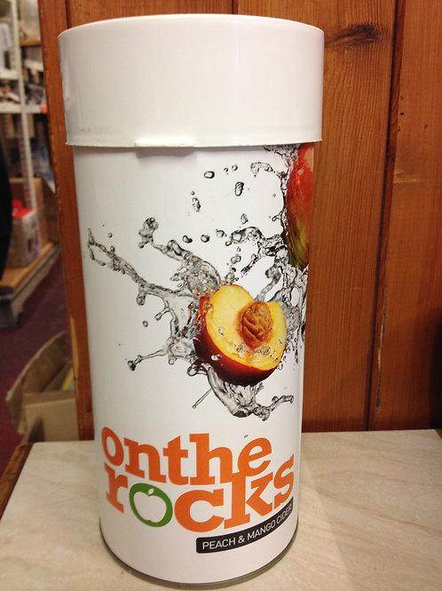 On The Rocks Cider Peach and Mango Cider