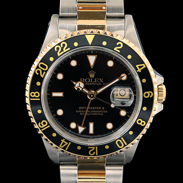 Rolex GMT-Master II 18K Gold and Stainle