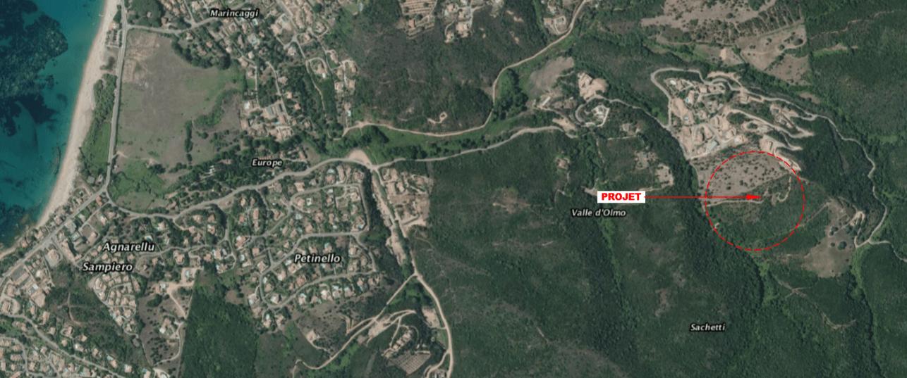 Plan de situation Domaine des Oliviers