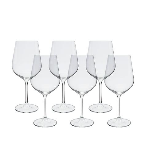Jogo de 6 taças para Vinho em Cristal Ecológico 580ml