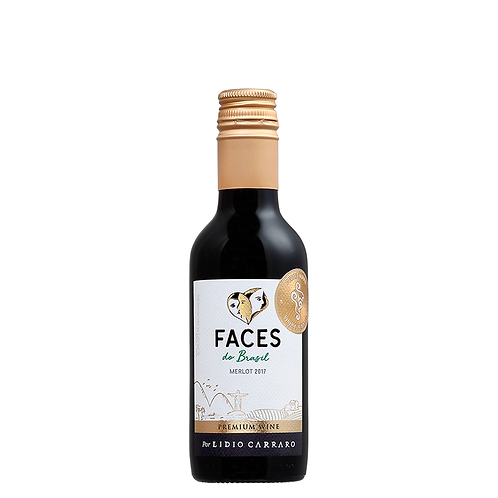 Lídio Carraro Faces do Brasil Merlot (1 und) Safra 2018 - 187,5ml