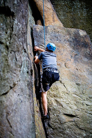 New River Gorge, WV, rock climber