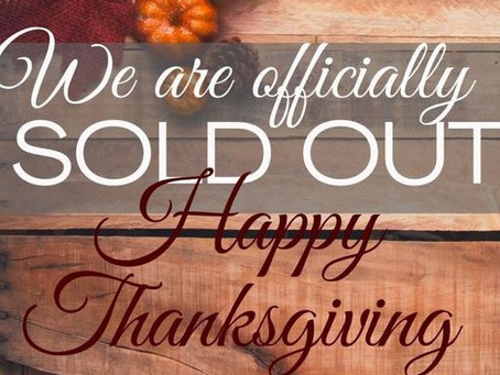 Thanksgiving Family Meals Sold Out