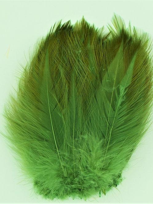 Green Olive-Saddle Hackle