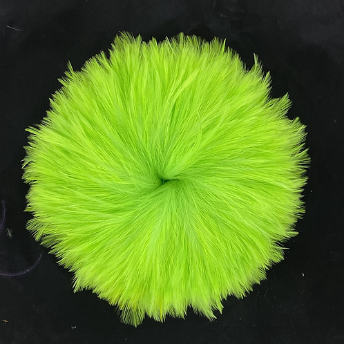 """3.8 Ounces Light Green Chartreuse Neck Hackle 4-6"""""""