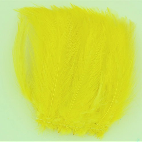 Yellow-Custom Neck Hackle 4-6""