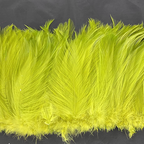 """.6 Ounces Fluorescent Olive Green 5-7"""" Neck Hackle"""