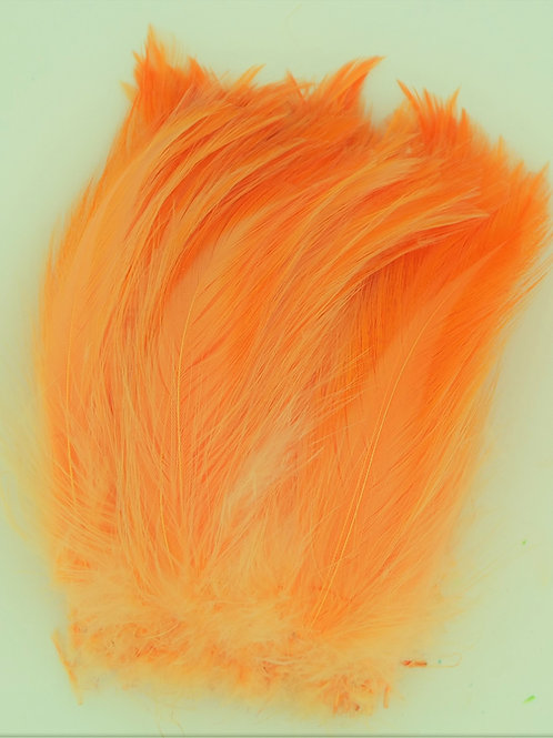 Light Fluorescent Orange-Saddle Hackle