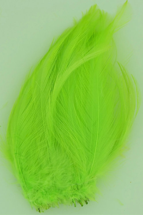 """Green Chartreuse-Custom Neck Hackle 4-6"""""""
