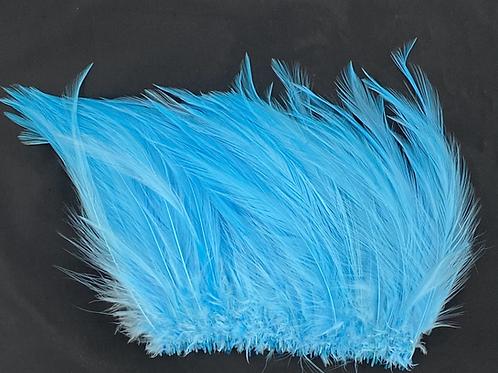 "Turquoise-Custom Neck Hackle 6-8"""