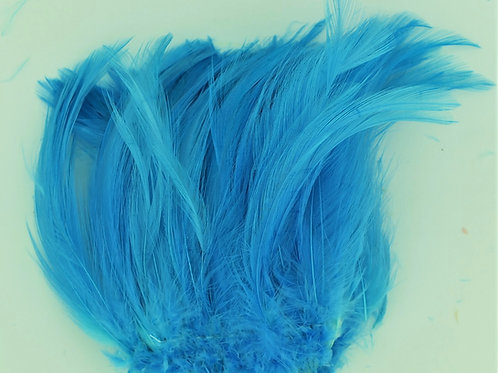 Electric Blue-Custom Saddle Hackle