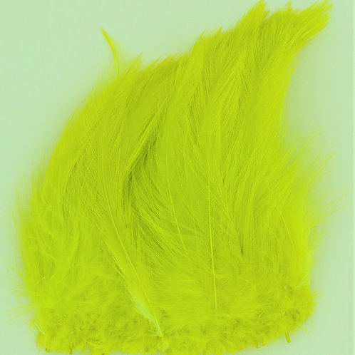 """Fluorescent Yellow Chartreuse-Custom Neck Hackle 4-6"""""""