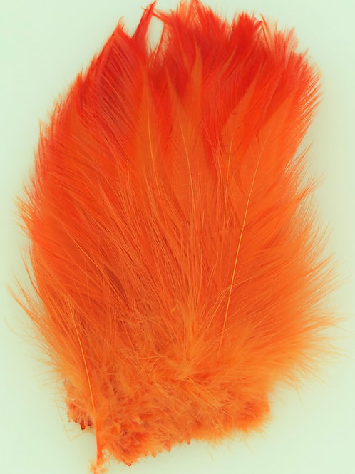 Orange-Custom Neck Hackle   4-6""