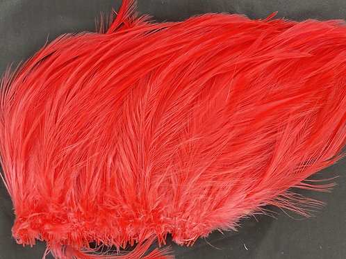 """Bright Red-Custom Neck Hackle 6-8"""""""