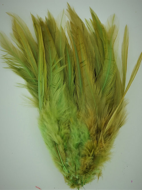 Golden Green Olive-Saddle Hackle