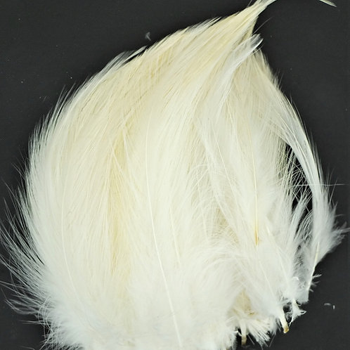Natural White-Custom Neck Hackle 4-6""