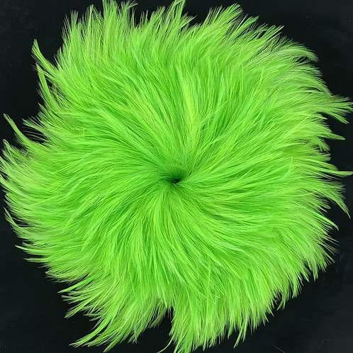 3.2 Ounce Green Chartreuse Neck Hackle 4-6""