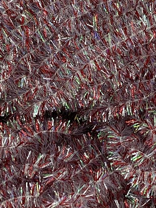Chrome Red-Custom Crystal Chenille