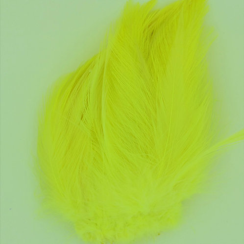 Fluorescent Yellow-Saddle Hackle