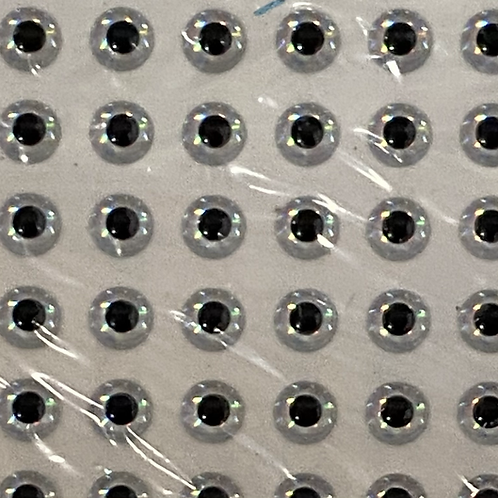 Chrome Silver 3D Eye