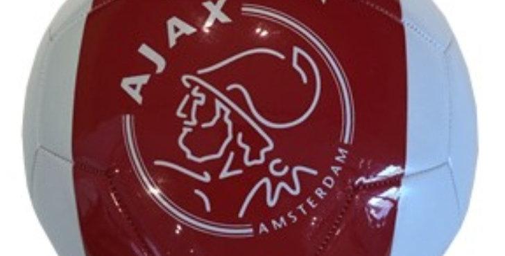 Bal AFC Ajax wit met rode baan