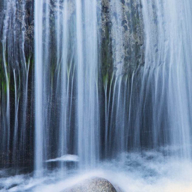 Cascade Creek Flows into Yosemite Valley