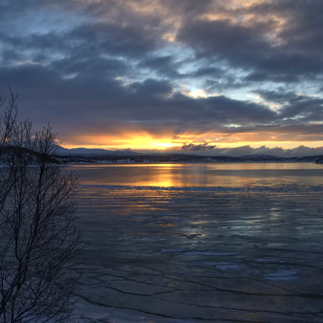 Sunset in Oslo Norway